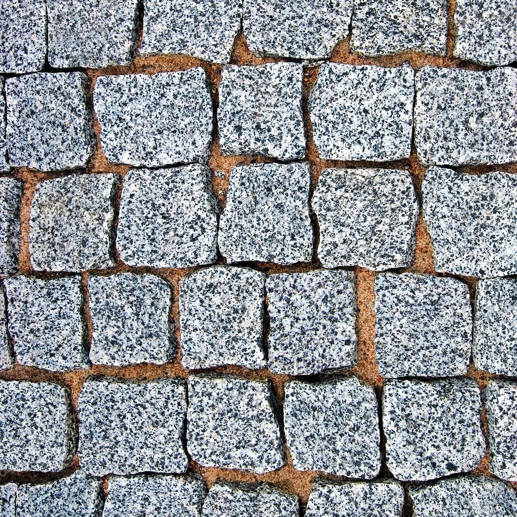 Detallada de granito adoquines pavimento textura fondo for Adoquines de granito