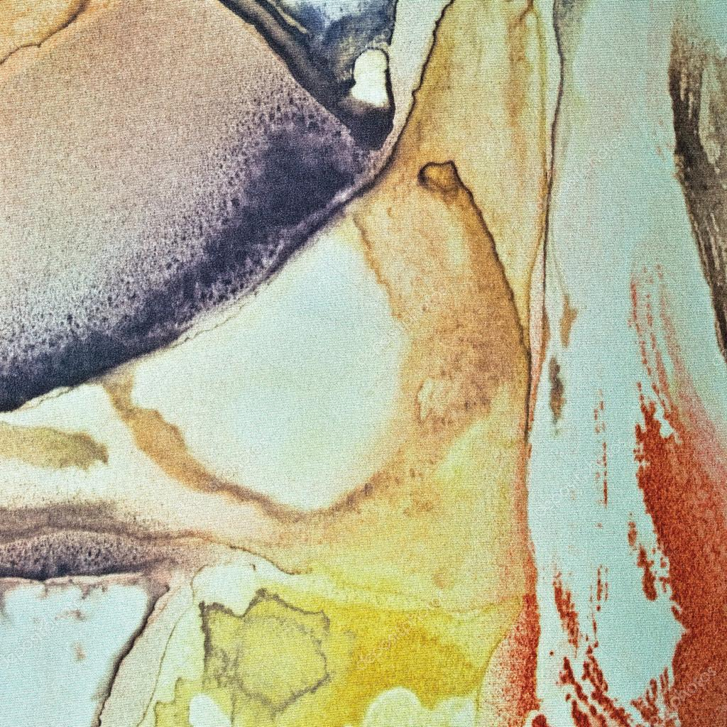 Abstrakte Aquarell malen gemalt strukturierter Seide Stoff Canvas ...