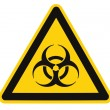 Biohazard symbol sign of biological threat alert isolated black — Stock Photo #7629761