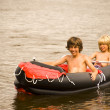 Rubber boat — Stock Photo