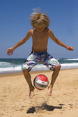 Beach soccer — Stockfoto