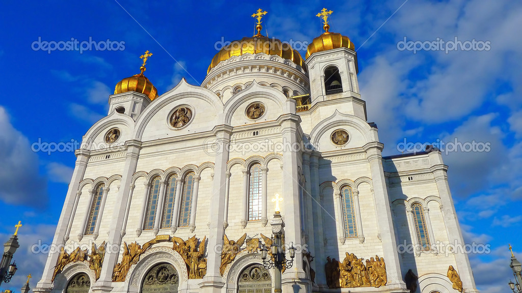 Famous beautiful Cathedral of Christ the Saviour in Moscow, Russia — Stock Photo #14873221