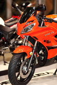 MOSCOW, RUSSIA, MARCH 2013, 10th International Motorcycle Exhibition MOTOPARK, Front Part of Beautiful racing motorcycle — ストック写真