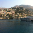 Yachts in marina of Simi island, Greece — Stock Photo