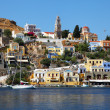 Fantastic colorful view of Symi island — Stock Photo