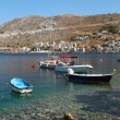 View of Symi island, Greece, seashore — Stock Photo