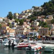 Beautiful view of Symi island in Greece — Stock Photo