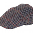 Stock Photo: Retro Wool tweed gentleman's cap isolated
