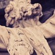 Saint Bartholomew statue detail — Stock Photo