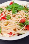 Spaghetti vegetariani — Foto Stock