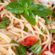 Summer spaghetti — Stock Photo