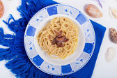 Pasta with Butter and Anchovies — Stock Photo