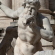 Trevi's Fountain Statue Detail — Stock Photo