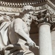 Ocean statue detail at Fontana di Trevi — Stock Photo