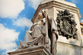 Column of the Immaculate David's statue detail — Foto Stock