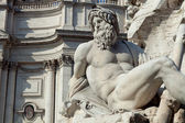Fountain of Four Rivers (Gange Detail) — Stock Photo