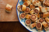 Savoury flaky pastries — Stock Photo