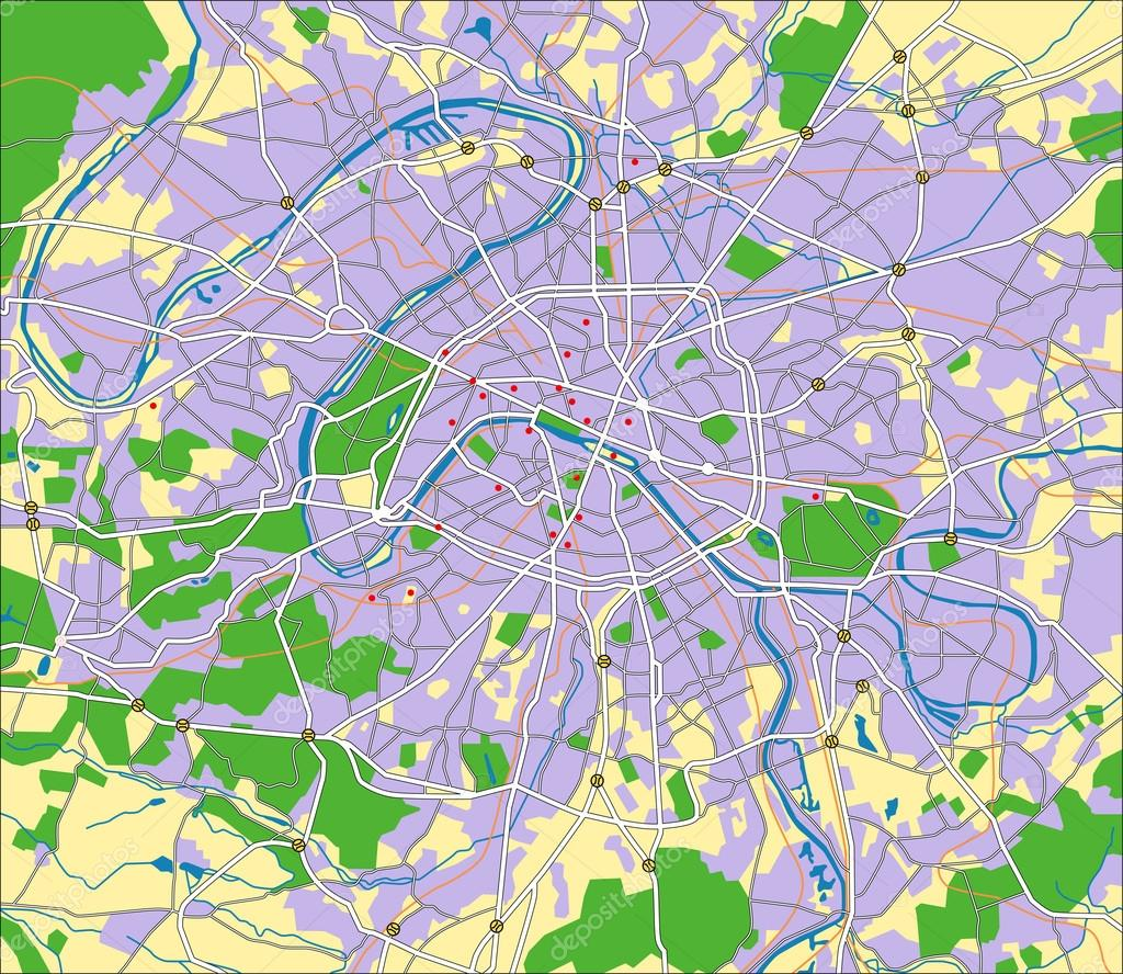 Vector map of Paris. — Stock Vector #13216768
