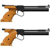 Air Pistol — Stock Vector