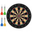 Dart and Dartboard — Stock Vector