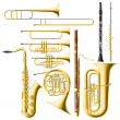 Wind Instruments — Vettoriali Stock