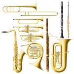 Wind Instruments — Stock Vector #24907281