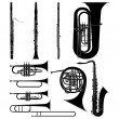 Wind Instruments — Stock Vector