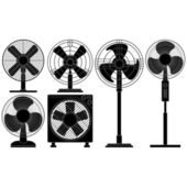 Electric Fans — Stock Vector