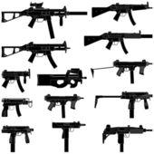 Maschinenpistole — Stockvektor
