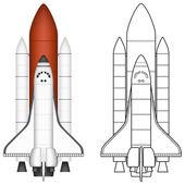 Uzay mekiği — Stok Vektör