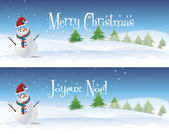 Snowman Banners — Stock Photo