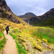 Walker hiker in Scotland — Stock Photo
