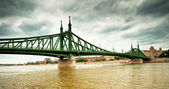 Famous Liberty bridge of Budapest — Stock Photo