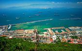 Gibraltar City and Bay — Stock Photo
