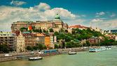 Houses in Budapest city — Stockfoto