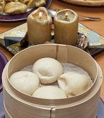 Pork bun dumpling — Stock Photo