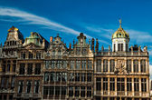 Brussels grand place building — Stock Photo