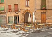Restaurant in the city — Stock Photo