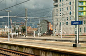 Modern railway station in Belgium — Foto Stock