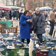 Daily flea market at Place du Jeu de Balle — Stock Photo