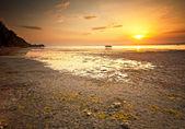 Lake Balaton with a very nice sunset — Stock Photo