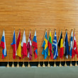 Flags of member states of EuropeUnion — Stock Photo #35533525