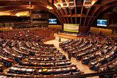 Strasbourg'da Avrupa Parlamentosu genel kurul Oda — Stok fotoğraf