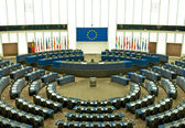 Plenary room of the European Parliament in Strasbourg — Stock Photo