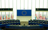 Plenary room of the European Parliament in Strasbourg — Stockfoto