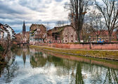Typical houses in the old town of Strasbourg — Stock Photo