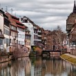 Nice view on the old houses of Strasbourg — Stock Photo