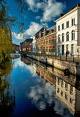 Houses in the old town of Gent — Stock Photo
