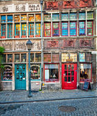Nice houses in the old town of Ghent — Stock Photo