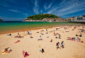 Beach of San Sebastian — Stock Photo